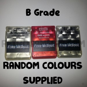Free McBoot Memory Card - B Grade Hori Random Colour - PS2