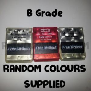 Free McBoot Memory Card - B Grade Hori Random Colour - PS2