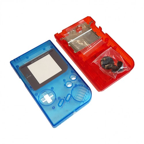 Gameboy shell - Clear Blue & Red