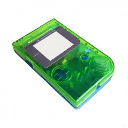 Gameboy shell - Clear Green & Blue