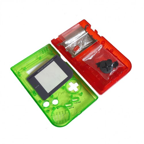 Gameboy shell - Clear Green & Red