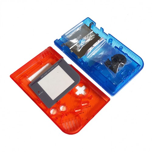 Gameboy shell - Clear Red & Blue
