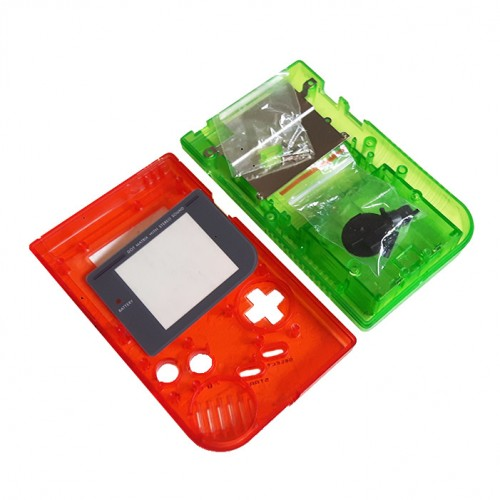 Gameboy shell - Clear Red & Green